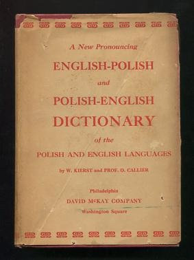 Image for McLaughlin's Polish-English Dictionary, in Two Parts: Polish-English / English-Polish [jacket title: A New Pronouncing English-Polish and Polish-English Dictionary of the Polish and English Languages]