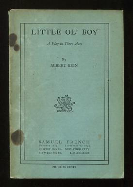 Image for Little Ol' Boy; a play in three acts [*SIGNED*]
