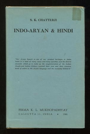 Image for Indo-Aryan & Hindi: Eight Lectures originally delivered in 1940 before the Gujarat Vernacular Society, Ahmedabad