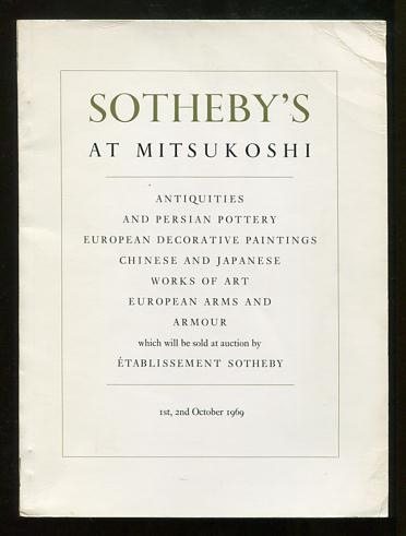 Image for Sotheby's at Mitsukoshi: 1st, 2nd October 1969 [and] 3rd October 1969 [2-volume set]