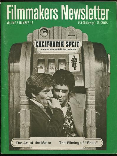 Image for Filmmakers Newsletter (October 1974) [cover: CALIFORNIA SPLIT]