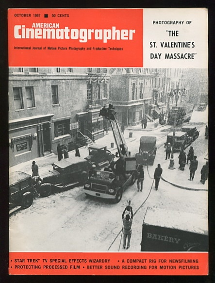 "Image for American Cinematographer (October 1967) [cover story: ""Photographing 'The St. Valentine's Day Massacre'""; also includes ""Star Trek"" article]"
