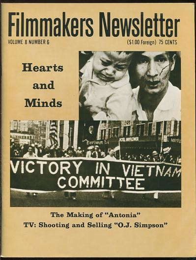 Image for Filmmakers Newsletter (April 1975) [cover: HEARTS AND MINDS]
