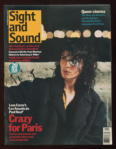 Image for Sight and Sound (September 1992) [cover: Juliette Binoche in LES AMANTS DU PONT NEUF]