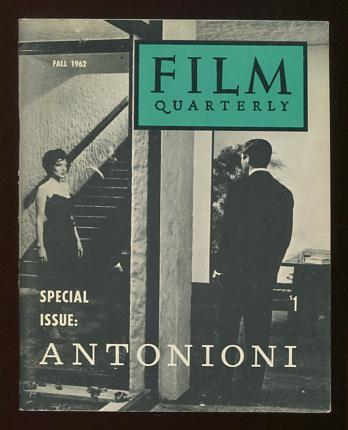Image for Film Quarterly (Fall 1962) [special issue: Antonioni]