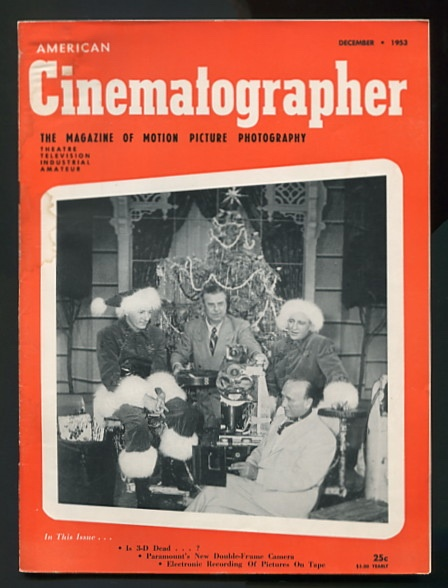Image for American Cinematographer (December 1953) [cover: WHITE CHRISTMAS]