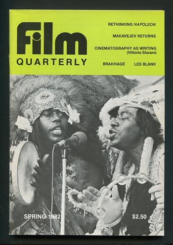 Image for Film Quarterly (Spring 1982) [cover: Les Blank's ALWAYS FOR PLEASURE]