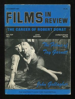 Image for Films in Review (December 1981) [cover: Pat O'Brien and Betty Compson in DESTINATION UNKNOWN]