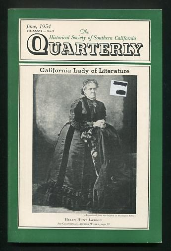 Image for The Historical Society of Southern California Quarterly (June 1954) [cover: Helen Hunt Jackson]