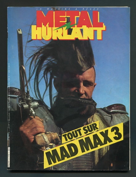 Image for Metal Hurlant (issue no. 110, April 1985) [special feature: MAD MAX 3, aka MAD MAX BEYOND THUNDERDOME]