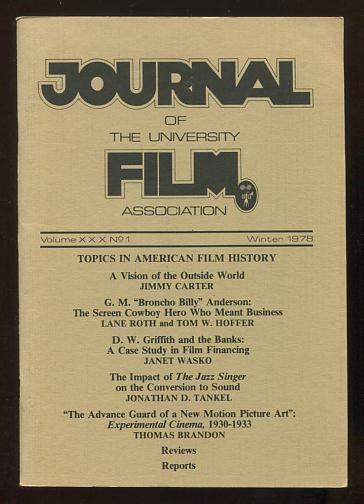 Image for The Journal of the University Film Association (Winter 1978) [issue theme: Topics in American Film History]