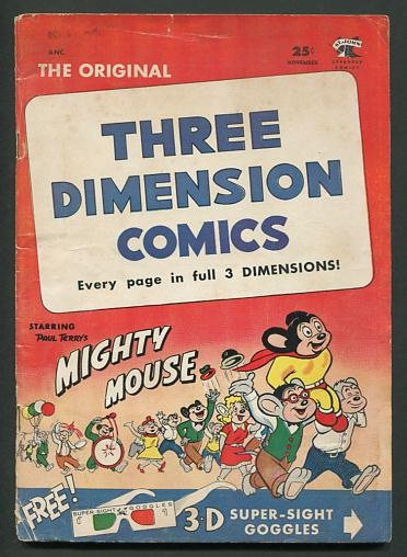 Image for Three Dimension Comics, starring Paul Terry's Mighty Mouse (issue no. 2, November 1953)