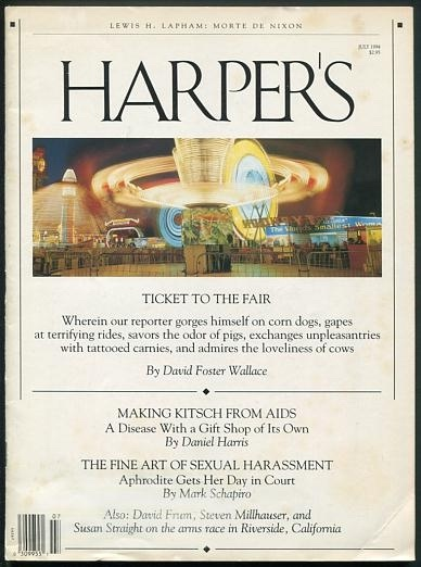 "Image for ""Ticket to the Fair"" (essay; in Harper's, July 1994)"