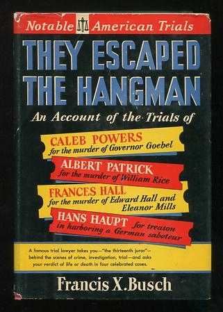 Image for They Escaped the Hangman