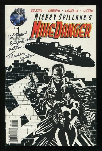 Image for Mickey Spillane's Mike Danger [first two issues of Volume 2 (September 1995 and July 1996), both *SIGNED* by Spillane]