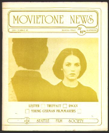 Image for Movietone News; issue number 49 (April 18, 1976) [cover: Isabelle Adjani in THE STORY OF ADELE H.]