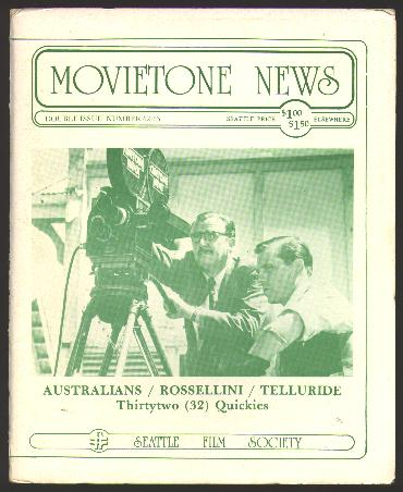 Image for Movietone News; issue number 62-63 (December 29, 1979)