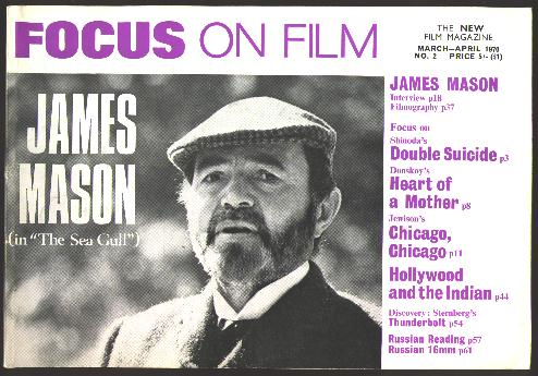 Image for Focus on Film (No. 2, March-April 1970) [cover: James Mason]