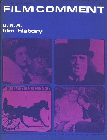Image for Film Comment: U.S.A. Film History (Fall 1969)
