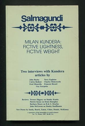 "Image for Salmagundi: A Quarterly of the Humanities & Social Sciences (no. 73, Winter 1987) [""Milan Kundera: Fictive Lightness, Fictive Weight""]"